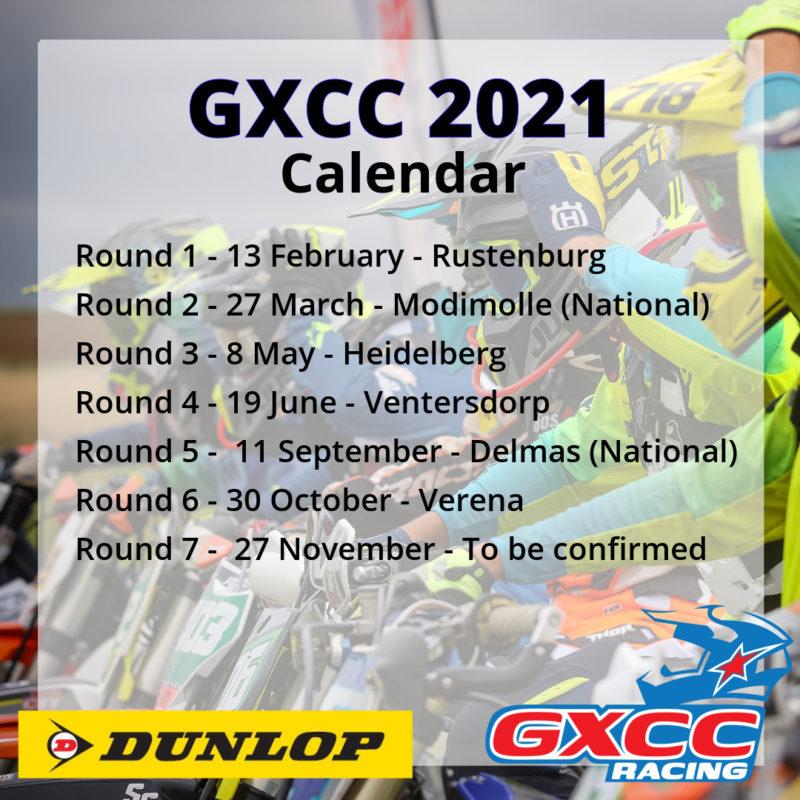 GXCC 2021 Calendar (Revised)
